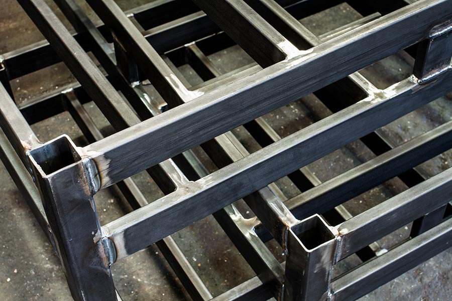 Frames and welding fabrication for industrial automation