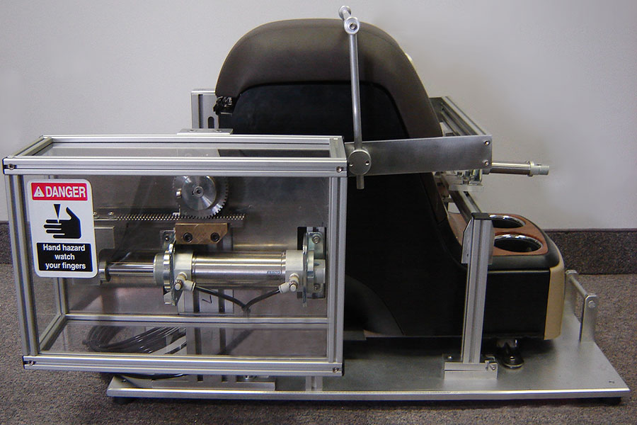 Life cycle testing fixtures used for product development in the automotive industry